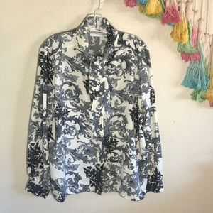 🎲VTG ALFRED DUNNER paisley pussy now blouse